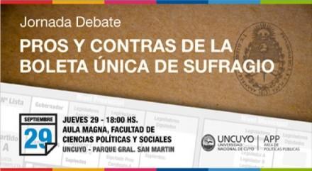 Jornada de debate sobre la boleta única de sufragio